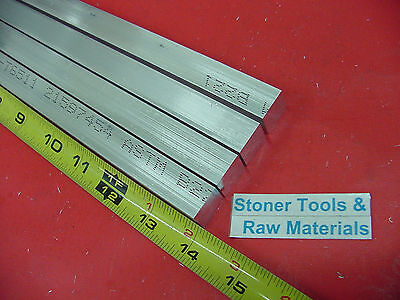 "4 Pieces 5/8"" X 5/8"" ALUMINUM 6061 SQUARE FLAT BAR 14"" long T6511 New Mill Stock"