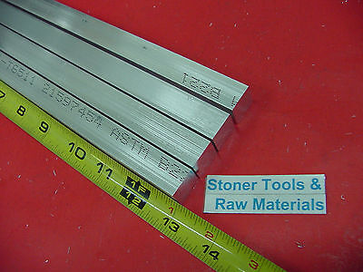 "4 Pieces 5/8"" X 5/8"" ALUMINUM 6061 SQUARE FLAT BAR 13"" long T6511 New Mill Stock"