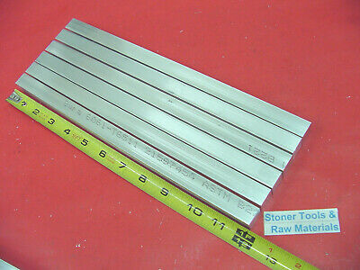 "6 Pieces 5/8"" X 5/8"" ALUMINUM 6061 SQUARE FLAT BAR 12"" long T6511 New Mill Stock"