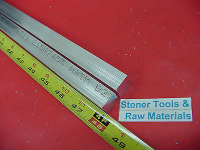 "2 Pieces 5/8"" X 5/8"" ALUMINUM 6061 SQUARE FLAT BAR 48"" long T6511 New Mill Stock"