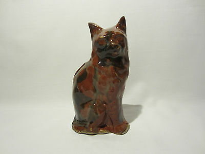 Ancienne Tirelire A Casser Chat Assis Gres Emaille Zoomorphe Moneybox Piggy Bank