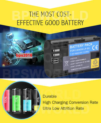 LP-E6 Battery Charger for Canon EOS 5D Mark II 7D 70D 60D 6D 5D2 5D3 AU LOCAL