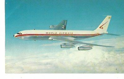 Cp Avion Boeing 707 Intercontinental World Airways N375Wa    Voir Description