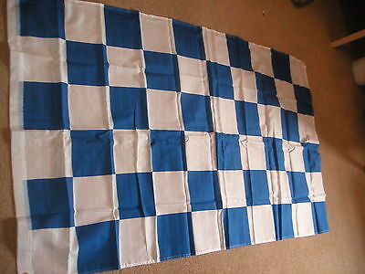 blue and white chequered flag  Coleraine irish cup final 2018 5x3 north coast