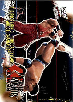 2001 Fleer WWF Wrestlemania #94 The Rock and Rikishi Early Years