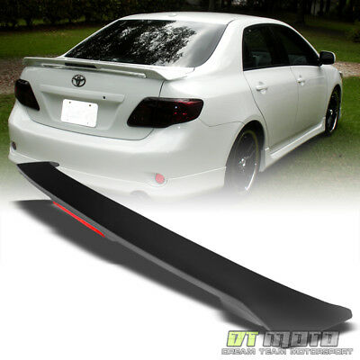 09-13 Toyota Corolla S LE XLE XRS Rear Trunk ABS Spoiler Wing+LED Brake Lamp