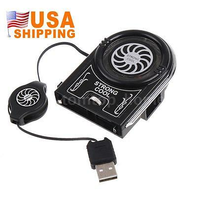 Mini Vacuum USB Air Extracting Cooling Fan Cooler for Notebook Laptop Black 1PCS