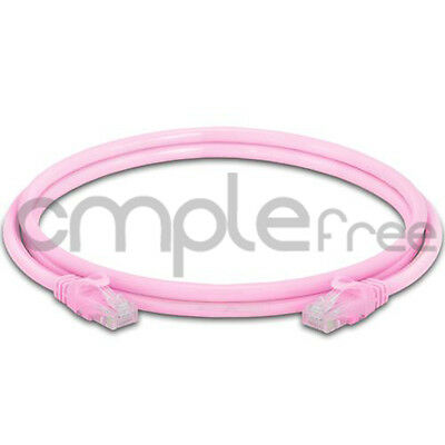 5FT CAT6 Cable Ethernet Lan Network CAT 6 RJ45 Patch Cord Internet Pink NEW