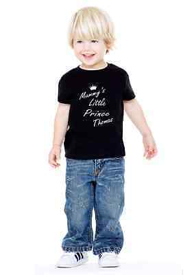 Personalised Baby Toddler Child's Kids Mummy's Little Prince T-shirt Tee Top