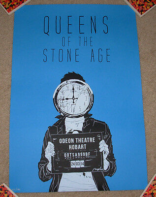 QUEENS OF THE STONE AGE concert gig tour poster 3-24-14 HOBART AUSTRALIA 2014