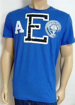 American Eagle Outfitters DIV 3 Mens Blue T-Shirt AEO New NWT