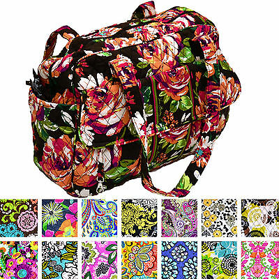 Vera Bradley Baby Bag Changing Pad Zip Closure Handbag Purse Many Colors New