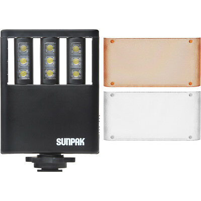 Sunpak Ultra Slim LED 9 Video Light with 2 Diffusers for Camcorder Cameras