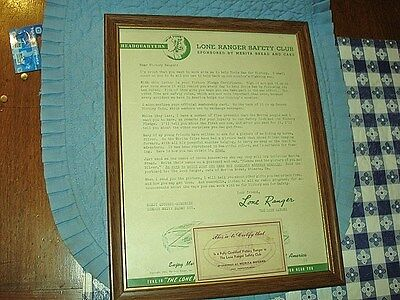 Lone Ranger Merita Bread Safety Club Letter, And Membership Code Card, 1943