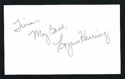 Lynn Herring signed autograph 3x5 index card Actress Lucy Coe General Hospital