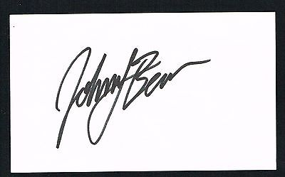 Johnny Benson signed autograph auto 3x5 card NASCAR & Busch Series Driver