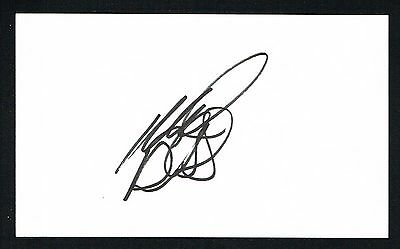 Mike Bliss signed autograph auto 3x5 card NASCAR & Nationwide Series Driver