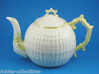 Limpet Sea Shell Teapot - Made in Ireland by Belleek - Older Brown Trademark