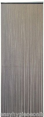 BROWN / BRONZE Long EU made CHAIN FLY Pest INSECT DOOR SCREEN CURTAIN Control