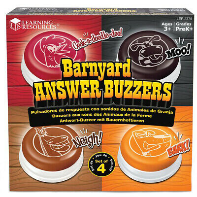 Learning Resources Barnyard Answer Buzzers (Set of 4)