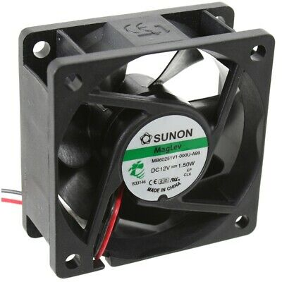 MF60251V1-A99 Axial-Lüfter 60x60x25mm 12VDC 39,9m³/h 39,9dBA FAN Sunon