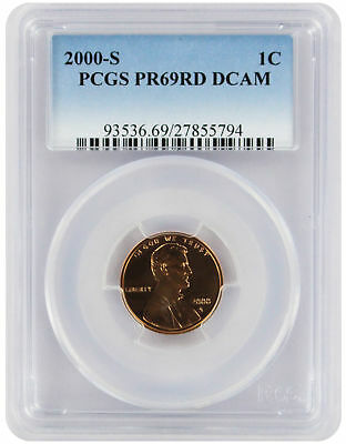 2000-S Lincoln Cent PR69RD DCAM PCGS Proof 69 Red Deep Cameo