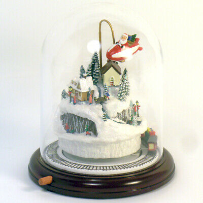 """Roman 9"""" Christmas Musical Scenic Dome With Lights Battery Operated"""
