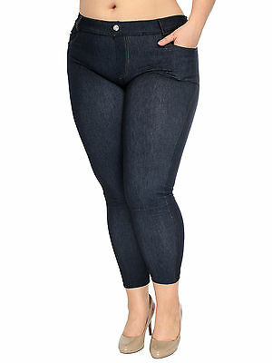 Women's New Skinny Jeans Plus Size Basic Jeggings Leggings Stretchy Pants