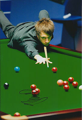 Judd Trump HAND SIGNED Snooker Autograph 12x8 Photo AFTAL COA Obtained in Person