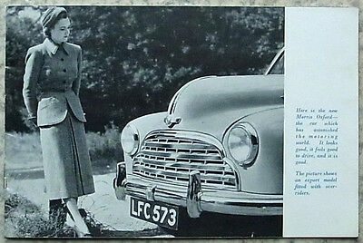NUFFIELD Cars Sales  Brochure 1949   MG - WOLSELEY - MORRIS - RILEY