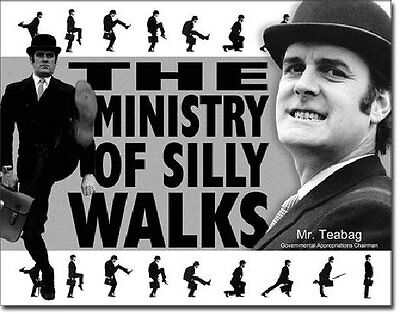 Monty Python TV Series Ministry of Silly Walks Photo Tin Sign Poster, NEW UNUSED