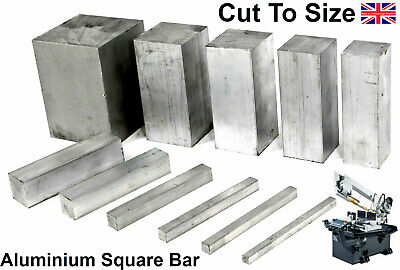 Aluminium Solid SQUARE BAR 14 Pre Cut Sizes and 8 Pre Cut Lengths