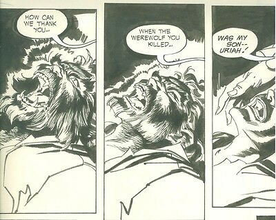 Witching Hour 32 WOLFMAN DEATH! Werewolf Final Page Art WOLF MAN BECOMES HUMAN!