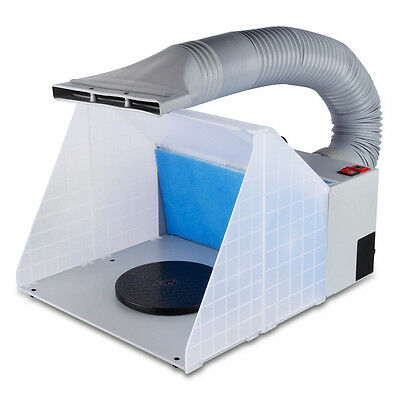 Portable Airbrushing Spray booth & extractor Set W Hose Nails Art Hobby Ceramics