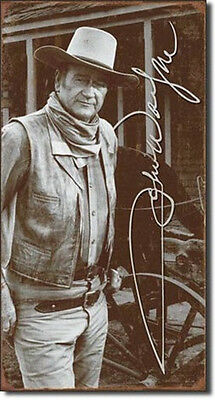 John Wayne Signature Photo Tin Sign Poster Reproduction, NEW UNUSED