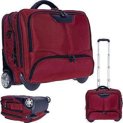 Trolley DERMATA BUSINESS XL Pilotentrolley Laptoptrolley Trolly Bag 3456 ny ROT