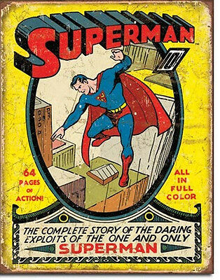 DC Comics Superman Issue #1 Cover Comic Art Tin Sign Reproduction, NEW UNUSED