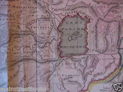 Antique Map South America CARACCAS and GUIANA c1820s Venezuela French Guiana