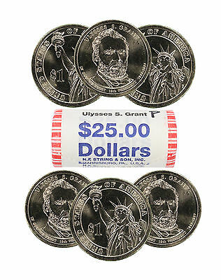 2011-P Ulysses S. Grant Presidential Dollar Choice BU Roll Uncirculated 25 Coins