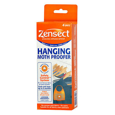 Zensect Hanging Moth Proofer 4 Units Protect All Fabric & Fresh Lavender Scented