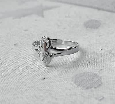 Goddess Toe Ring Wicca Pagan 925 Sterling Silver
