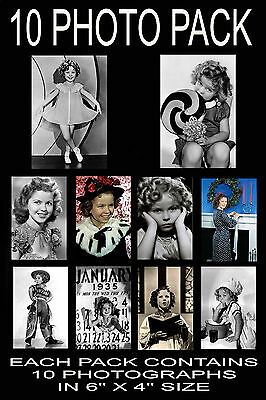 "6""x4"" PHOTOGRAPHS - PACK OF 10 - SHIRLEY TEMPLE"
