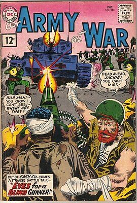 Our Army At War Comic Book #113, DC Comics 1961 VERY GOOD-