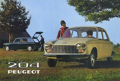 Brochure Depliant Auto Peugeot 204 Berlina 204 Break