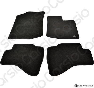 Toyota Aygo 2005 - 2014 Tailored Black Car Floor Mats Carpets 4pc Set 1 Clip