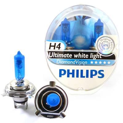 Philips Diamond Vision H4 Motorcycle 60W High Low Beam Headlight Lamp Bulb 5000K