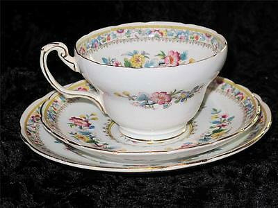 VINTAGE FOLEY CHINA TRIO Plate Cup & Saucer E Brain & Co MING ROSE Pattern
