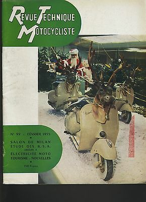 (12B)REVUE TECHNIQUE MOTOCYCLISME Bicylindres BSA Groupe A / VESPA 1955