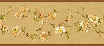 NL57034B Cherry Blossom Orchard Floral Oriental Wallpaper Border
