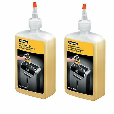 Fellowes Shredder Cutter Oil Lube Lubricant 12oz Bottle w/ Extension Nozzle 2PK